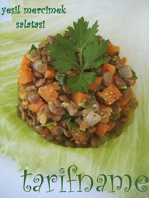 Post image for Yeşil Mercimek Salatası