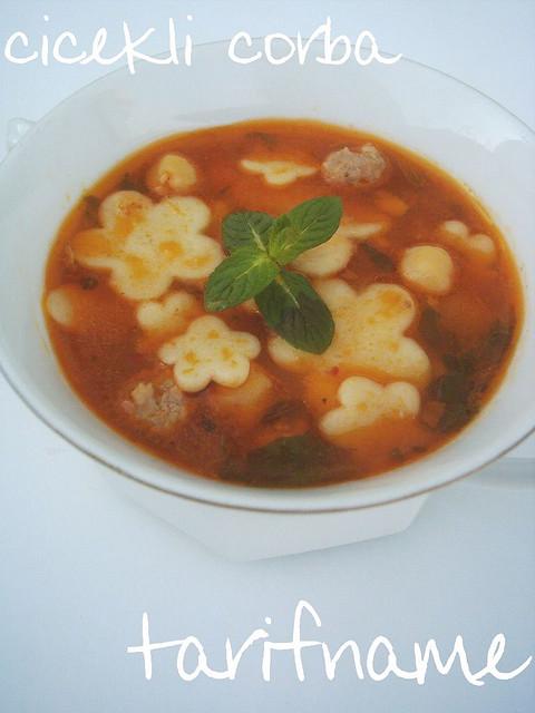 Post image for Çiçekli Çorba (Yüksük Çorbası)